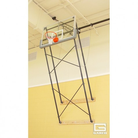Gared Fold-Up Wall Mount Series, 6-9' Extension, Rectangular Board for Adjust-a-Goal (2400-6094A)