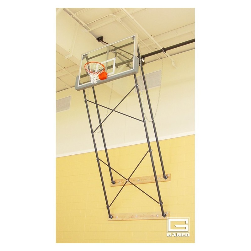 Gared Fold-Up Wall Mount Series, 9-12' Extension, Rectangular Board for Adjust-a-Goal (2400-9124A)