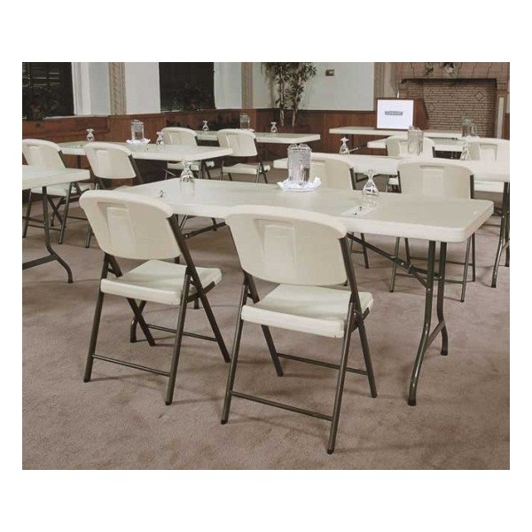 lifetime 32 pack commercial contoured folding chairs white 2802
