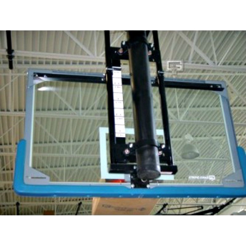 Gared Electric Adjust-a-Goal Height Single Post for Fan-Shape Backboard (1173)