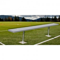Gared 15' Spectator Bench without Back, Surface Mount (BE15SM)