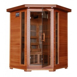 Hudson Bay - Cedar 3 Person FAR Infrared Sauna With Carbon Heaters - Corner Unit