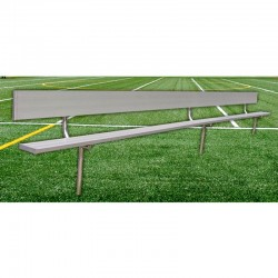 Gared 27' Spectator Bench with Back, Inground (BE27IGWB)