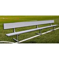Gared 27' Spectator Bench with Back, Portable (BE27PTWB)
