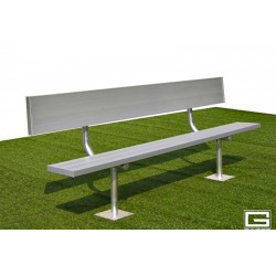Gared 27' Spectator Bench with Back, Surface Mount (BE27SMWB)