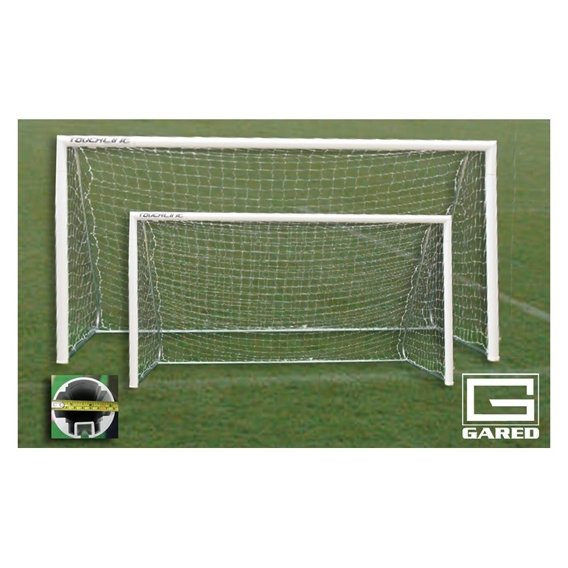 Gared Small Sided 7-A-SIDE Soccer Goal 6x16 Semi-Permanent (Socketed) (SG74616)