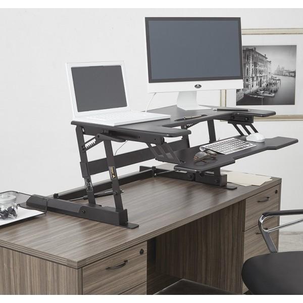 osp furnitures multiposition desk riser black dr3622 bk. Black Bedroom Furniture Sets. Home Design Ideas