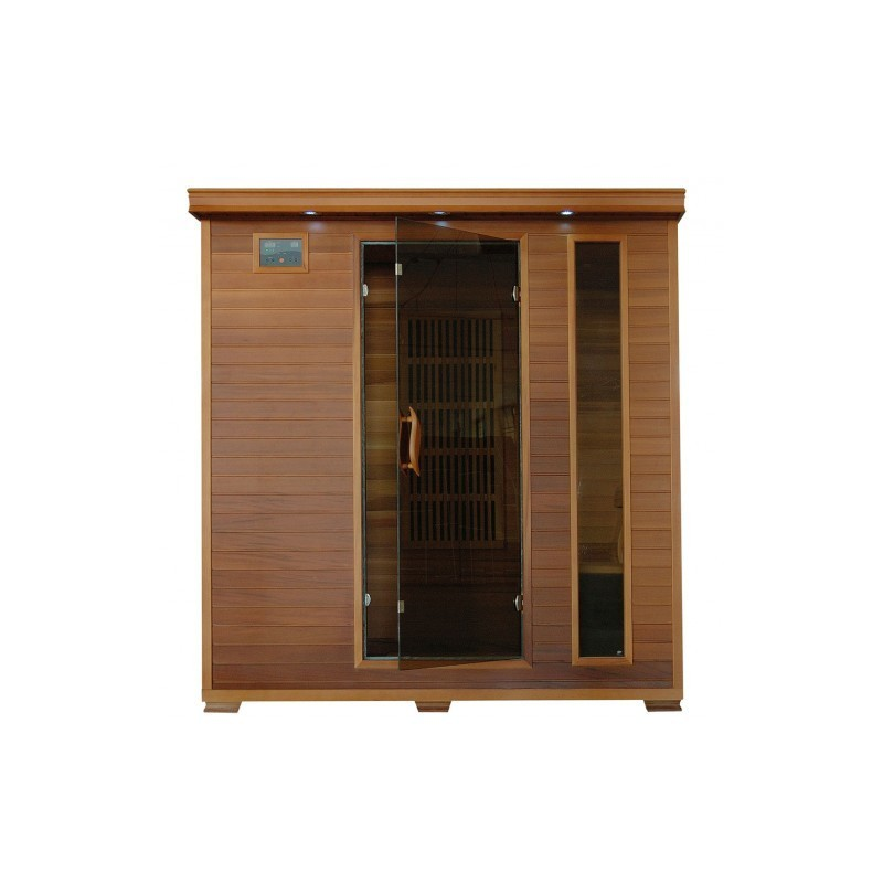 Klondike - Cedar 4 Person FAR Infrared Cedar Sauna With Carbon Heaters