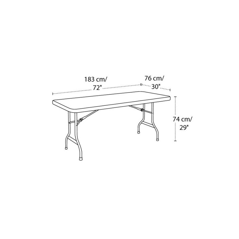 6 ft. commercial plastic folding banquet table (white) 22901