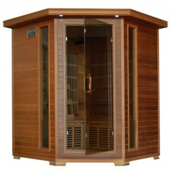 Whistler - Cedar 4 Person FAR Infrared Sauna With Carbon Heaters - Corner Unit