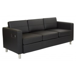 Work Smart Atlantic Sofa - Black (ATL53-R107)