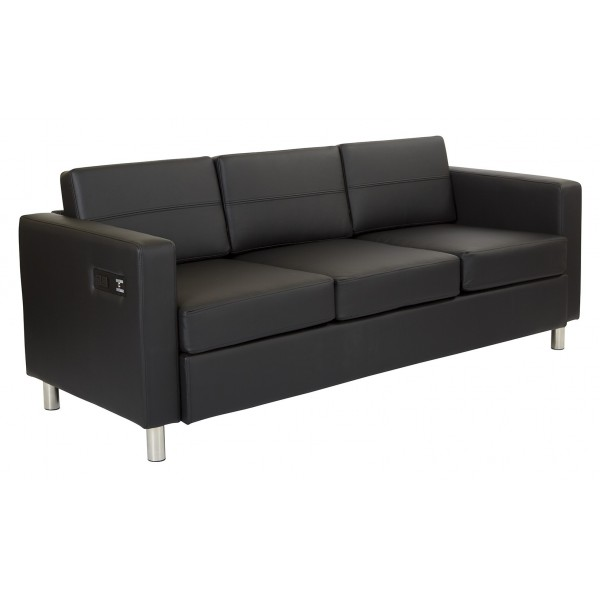work smart atlantic sofa black atl53 r107. Black Bedroom Furniture Sets. Home Design Ideas