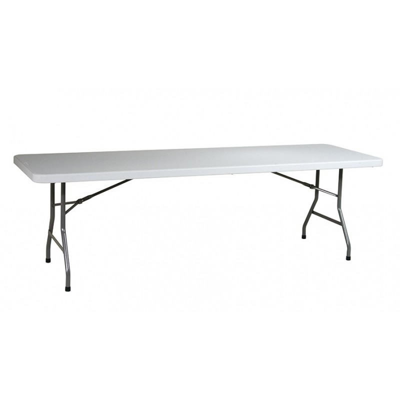 Work Smart 8ft Resin Multi Purpose Table - Light Grey (BT08Q)