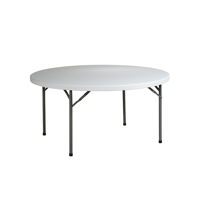 "Work Smart 60"" Round Resin Multi Purpose Table - Light Grey (BT60Q)"