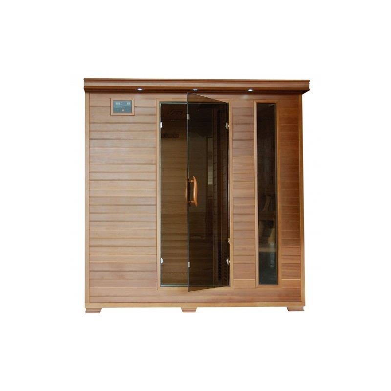 Great Bear - Cedar 6 Person FAR Infrared Sauna With Carbon Heaters