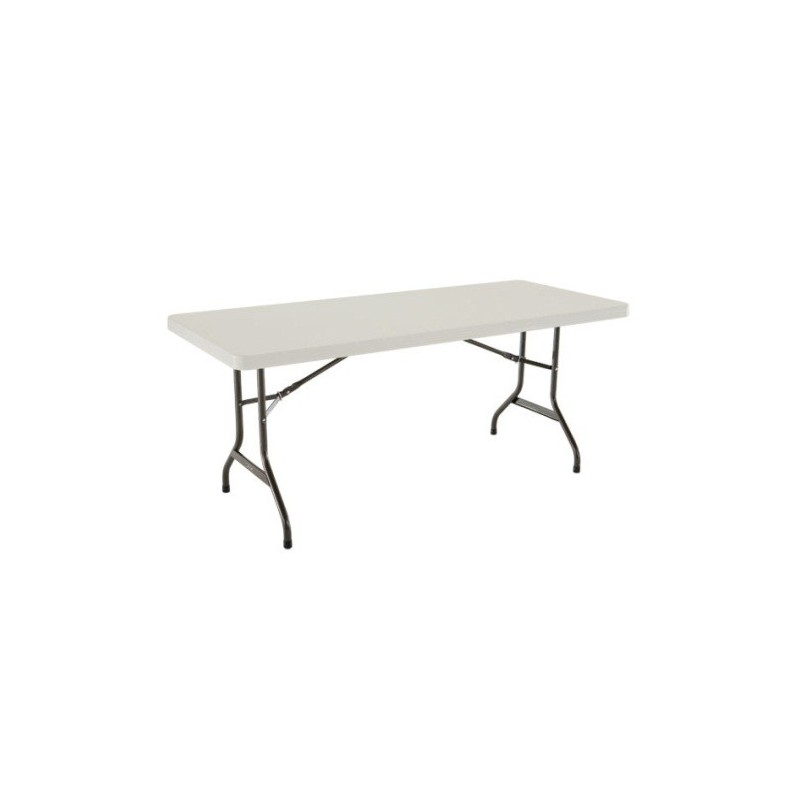 Lifetime 6 ft. Commercial Plastic Folding Banquet Table (Almond) 22900
