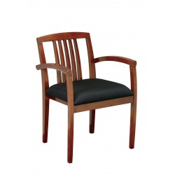 OSP Furnitures Leg Chair 4-Pack With Wood Slat Back  - Light Cherry Finish  (KEN-99-LCH)