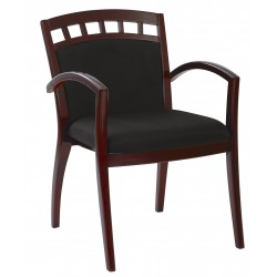 OSP Furnitures Leg Chair With Upholstered Back - Mahogany Finish (MEN-942-MAH)