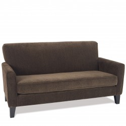 Ave Six Sierra Loveseat With Sinuous Spring Seat And Solid Wood Legs - Corduroy Coffee Fabric (SRA52-C47)