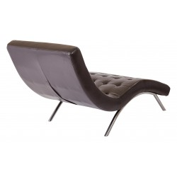 Ave Six Blake Tufted Chaise - Brown (BAK72-E34)