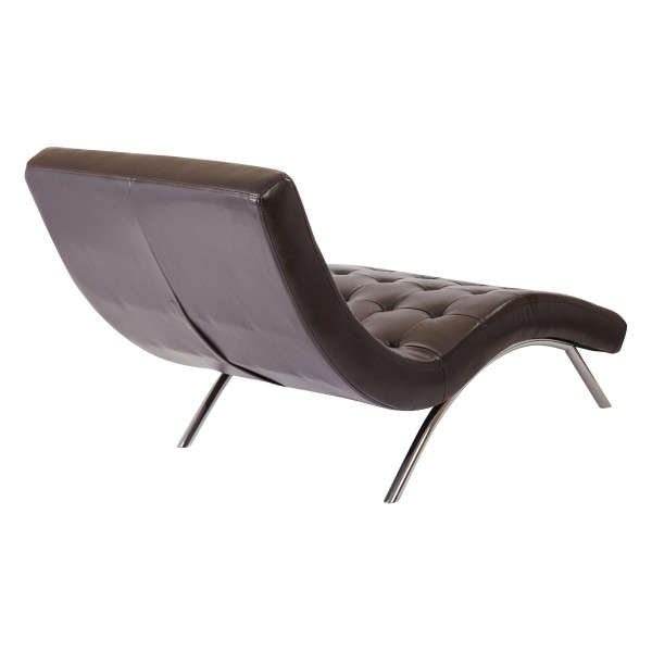 Ave six blake tufted chaise brown bak72 e34 for Ave six curves velvet chaise lounge
