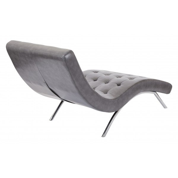 Ave six blake tufted chaise grey bak72 pd26 for Avenue six curves tufted chaise lounge