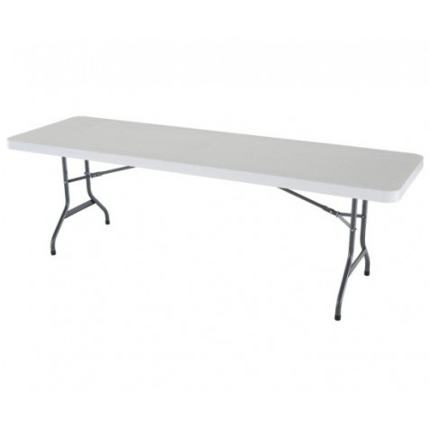 Lifetime 8 ft. Commercial Plastic Folding Banquet Table (White) 22980