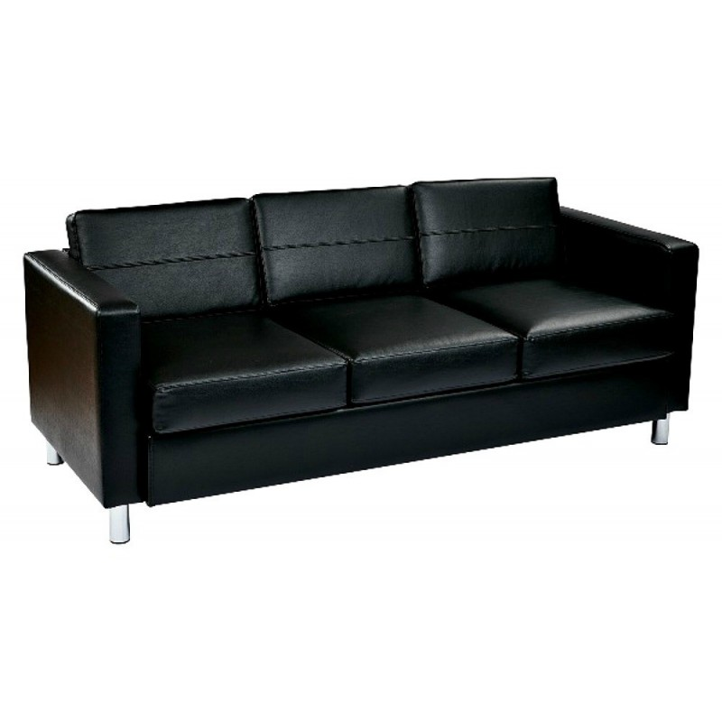 Ave Six Pacific Sofa Couch - Black (PAC53-R107)