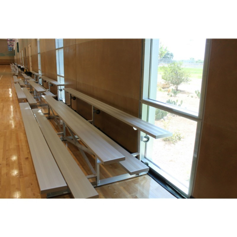 "Gared 3-Row Tip n' Roll Spectator Bleacher, 10"" Plank, 21 ft (TRB0321)"