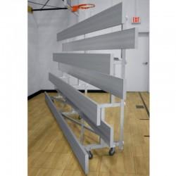 "Gared 3-Row Low Rise Tip n' Roll Spectator Bleacher, 12"" Plank, 15 ft (TRB0315LR)"