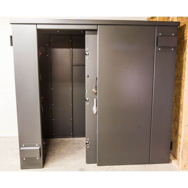 "Swisher ESP 9 Person Tornado Safety Shelter Kit, 57""W x 87""L x 78""H - Gray (SR84X054G)"