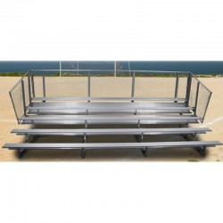 "Gared 5 Row Fixed Spectator Bleacher without Aisle, 10"" Plank, 15 ft (GSNB0515)"