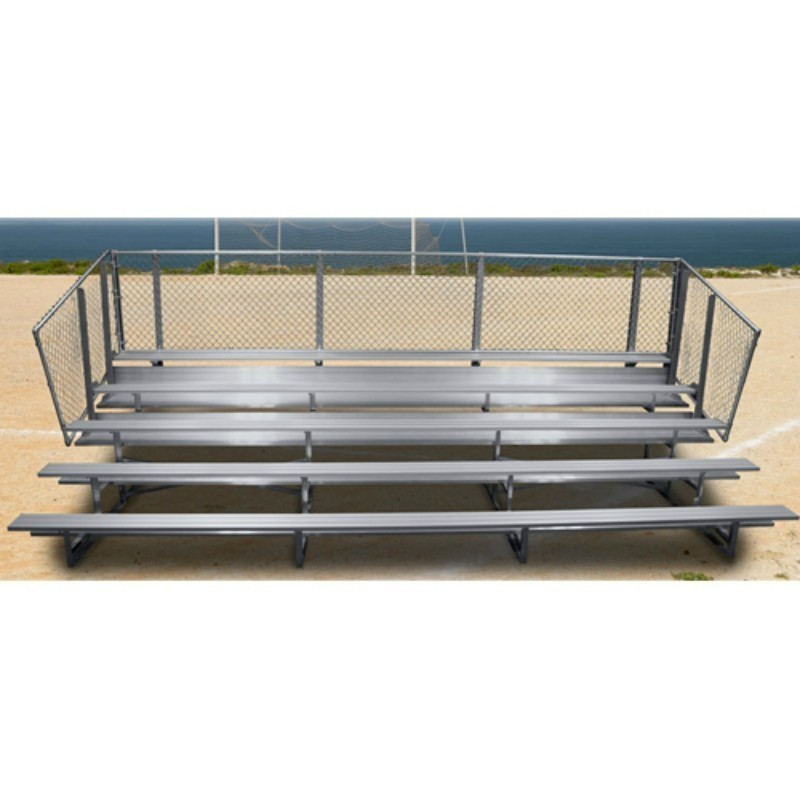 """Gared 5 Row Fixed Spectator Bleacher without Aisle, 10"""" Plank, 15 ft (GSNB0515)"""