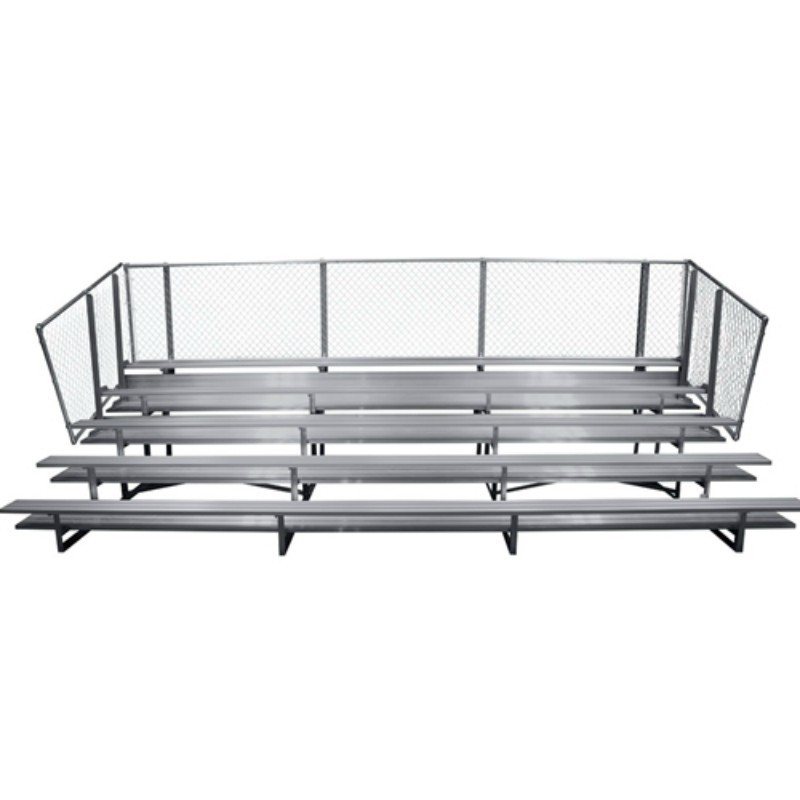 "Gared 5-Row Fixed Spectator Bleacher without Aisle, 10"" Plank, 21 ft, Double Foot Planks (GSNB0521DF)"