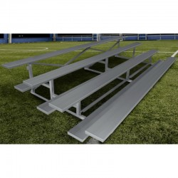 "Gared 3-Row Low Rise Fixed Spectator Bleacher, 12"" Plank, 21 ft (GSNB0321LR)"