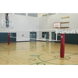 Gared RallyLine Scholastic Aluminum Telescopic One-Court Volleyball System Less Sleeves and Covers  (GS-6105)
