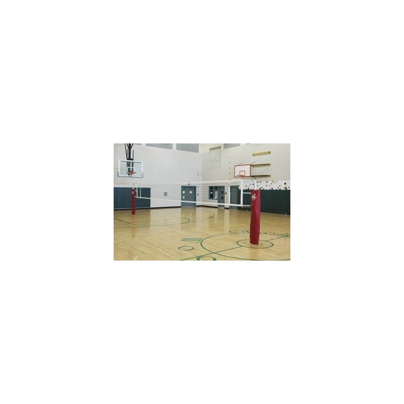 Gared RallyLine Scholastic Aluminum Telescopic Two-Court Volleyball System Less Sleeves and Covers (GS-6103)
