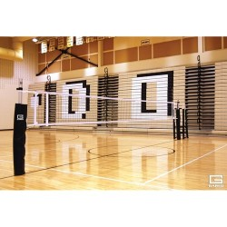Gared RallyLine Scholastic Aluminum One-Court Volleyball System Less Sleeves and Covers (GS-6005)
