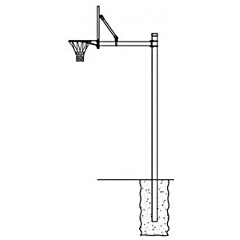"""Gared 4-1/2"""" O.D. Front Mount Adjustable Straight Post, 4' Extension (AAB45)"""