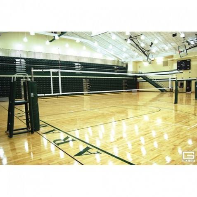 Gared OMNISteel Collegiate Steel Telescopic Three-Court Volleyball System (GS-5103)