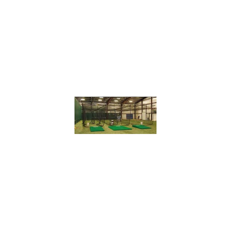 Gared Batting Cage 10'H x 12'W x 70'L Without Net, Direct Mounting (4080-70LN)