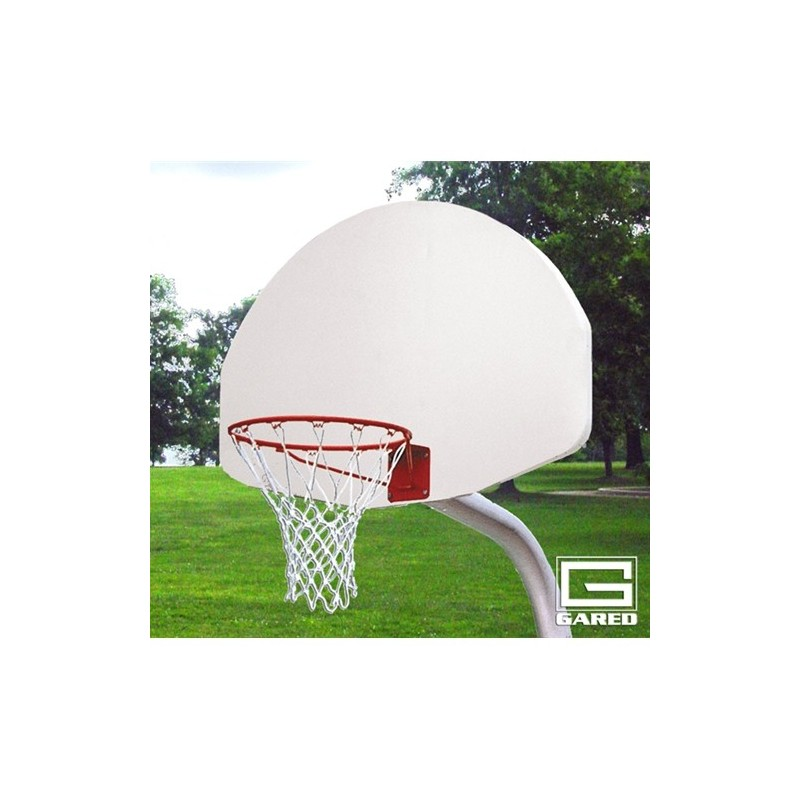 "Gared 3-1/2"" O.D. Unbraced Front Mount Gooseneck Post, 3' Extension, 1750 Backboard, 39WO Goal (PK3510)"