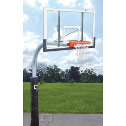 "Gared 3-1/2"" O.D. Front Mount Gooseneck Post with Braces, 3' Extension, BB48A38 Backboard, 726 Goal (PK3530)"