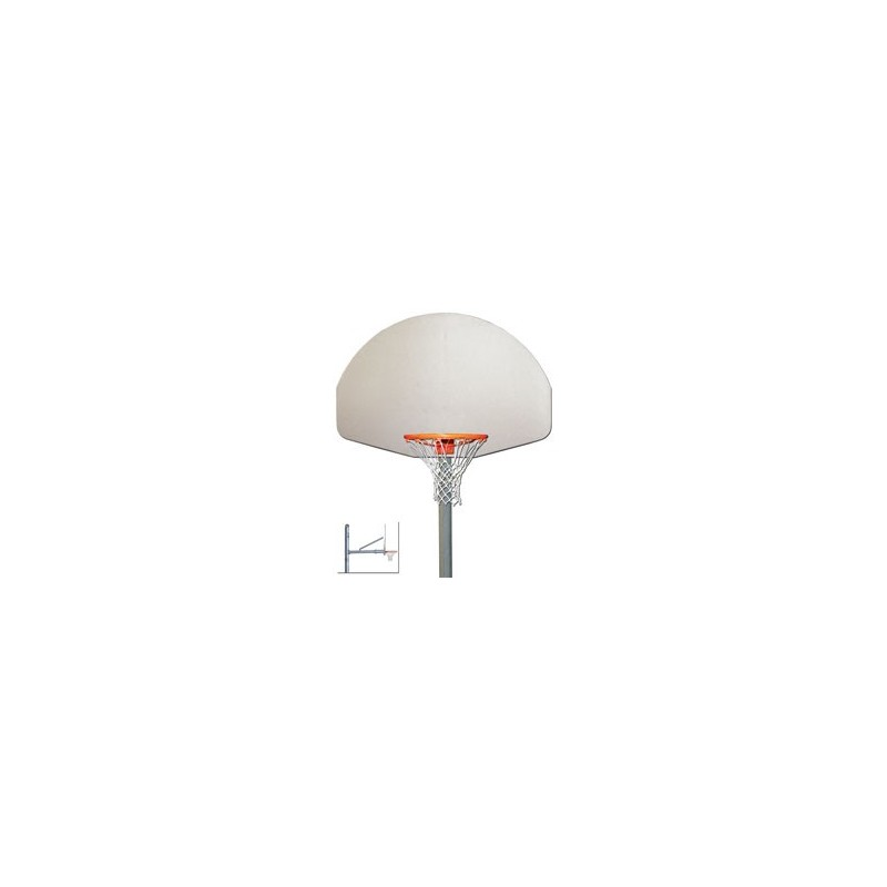 "Gared 3-1/2"" O.D. Front Mount Adjustable Straight Post, 3' Extension, BB48A38 Backboard, 726 Goal (PK3531)"