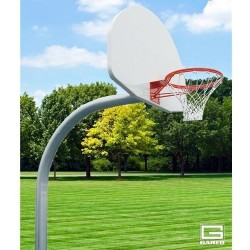 "Gared 4-1/2"" O.D. Front Mount Gooseneck Post with Braces, 4' Extension, BB60A38 Backboard, 726 Goal (PK4530)"
