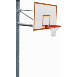 "Gared 5-9/16"" O.D. Front Mount Adjustable Straight Post, 5' Extension, 1272B Backboard, 7550 Goal (PK6051)"