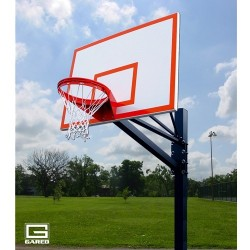 "Gared Endurance Playground System, 6"" Square Post, 4' Extension, 1272B Steel Backboard, 8550 Goal (GP104S72)"