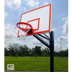 "Gared Endurance Playground System, 6"" Square Post, 5' Extension, 1272B Steel Backboard, 8550 Goal (GP105S72)"