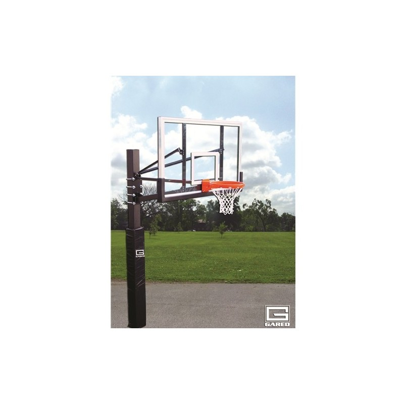 "Gared Endurance Playground System, 6"" Square Post, 5' Extension, BB72G50 Glass Backboard, 8800 Goal (GP105G72)"