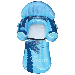 Blue Wave Drift Escape Inflatable Pool Lounger - Blue (NT3021)